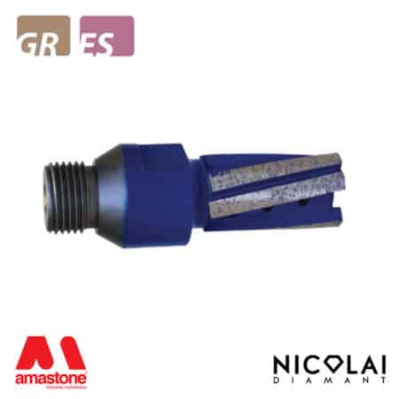 Nicolai – Blue twin finger bit for incremental cutting – Granite, Engineered Stone - Nicolai