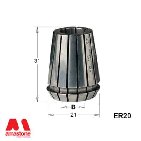 ER20 Collet - with dimension