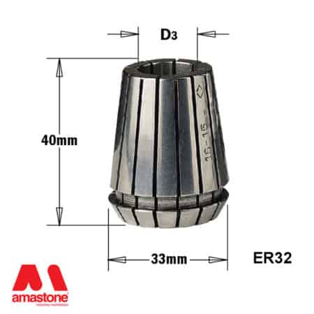ER32 Collet - with dimension