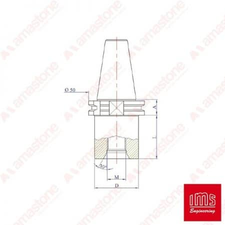 Drill point holder cone ISO 30 - Din 69871/A