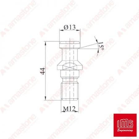 Pull stud for tool holder cone ISO 30