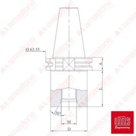Drill point holder cone ISO 30 Bavelloni - Equal Cuts