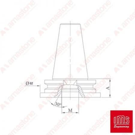 Drill point holder cone ISO 30 Intermac – Bimatech