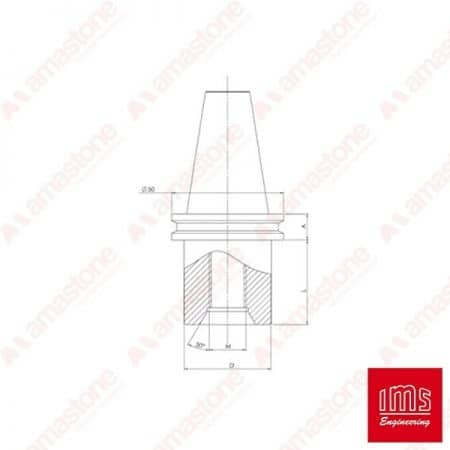 Drill point holder cone ISO 30 Pavoni New Type