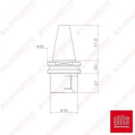 Drill point holder cone ISO 30 - SKG