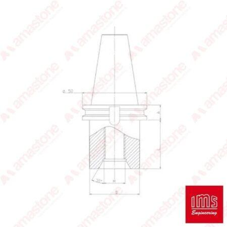 Drill point holder cone ISO 40 - Breton