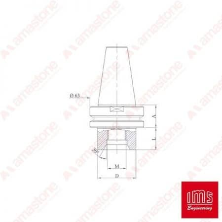 Drill-point-holder-cone-ISO-40