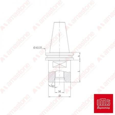 Drill point holder cone ISO 40 - Pavoni