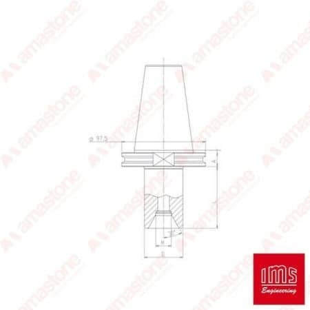 Drill point holder cone ISO 50