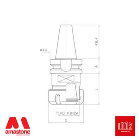 ER collet chuck holder cone BT 30 – IMS