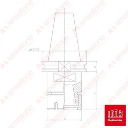 ER collet chuck holder cone ISO 30 Bavelloni - Equal Cuts
