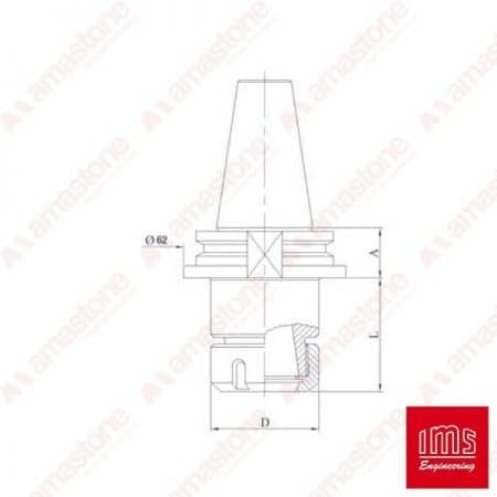 ER collet chuck holder cone - ISO 30 Intermac - Bimatech