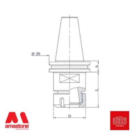 ER collet chuck holder cone ISO 40 – Pavoni – IMS