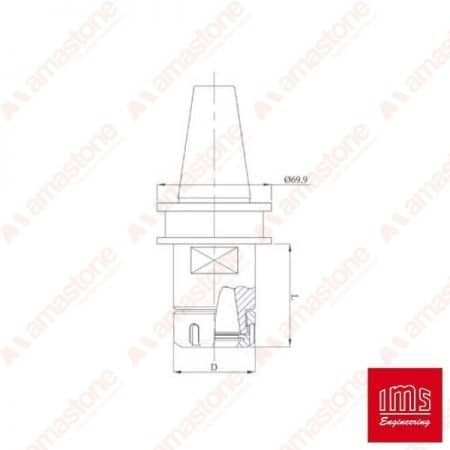 ER collet chuck holder cone ISO 40 - Agut Prussiani New Type