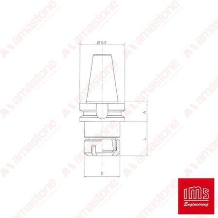 ER collet chuck holder cone ISO 40 BT - Denver VEM and other