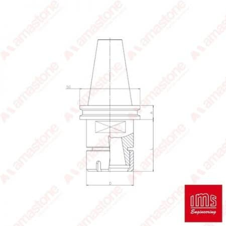 ER collet chuck holder cone ISO 40 - Brembana New Type