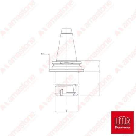 ER collet chuck holder cone ISO 40 - Busetti