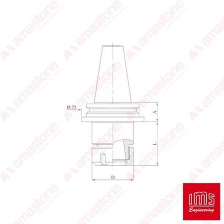 ER collet chuck holder cone ISO 40 - FA