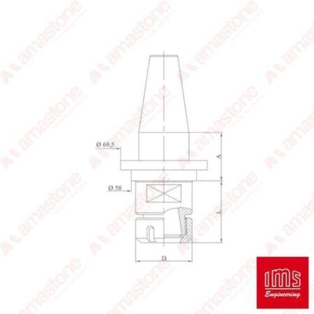 ER collet chuck holder cone ISO 40 - Ravelli