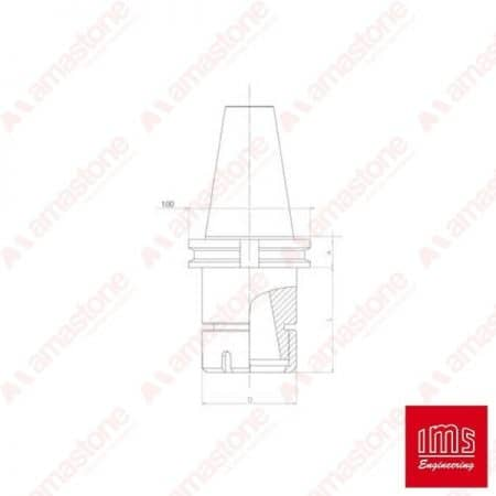ER collet chuck holder cone ISO 50 BT - Biesse