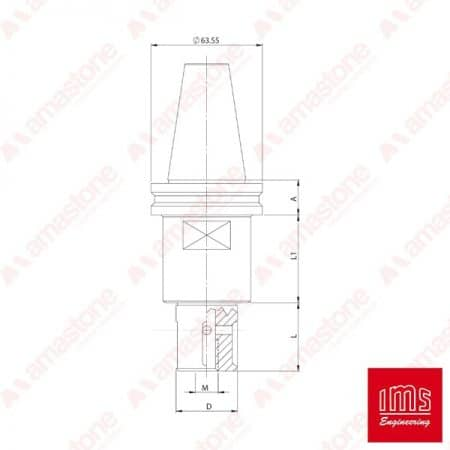 IMS - Tool Holder Cone for Grinding Wheel ISO 40