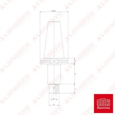 IMS - Tool Holder Cone for Grinding Wheel ISO 50 - Bidese 2T and other