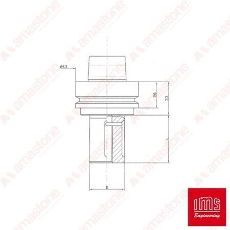 Tool Holder Cone for Grinding Wheel HSK 63 F - DIN69893