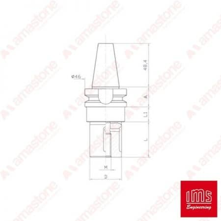 Tool Holder Cone for Grinding Wheel ISO 30 BT