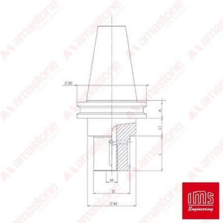 Tool Holder Cone for Grinding Wheel ISO 30 - Pavoni New Type