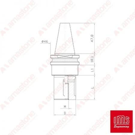 Tool Holder Cone for Grinding Wheel ISO 30