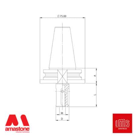 Tool Holder Cone for Grinding Wheel ISO 40 - Intermac, Bimatech and other - IMS