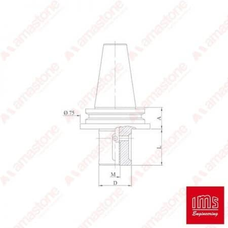 Tool Holder Cone for Grinding Wheel ISO 40 - FA