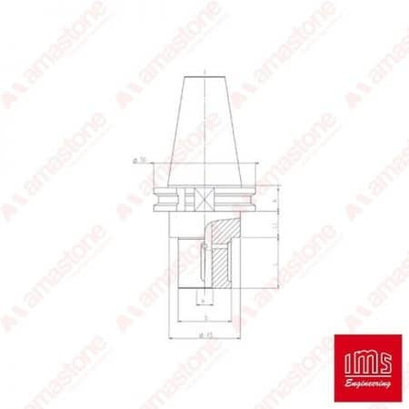 Tool Holder Cone for Grinding Wheel ISO 40 - Omag