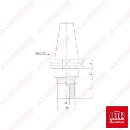 Tool Holder Cone for Grinding Wheel ISO 40