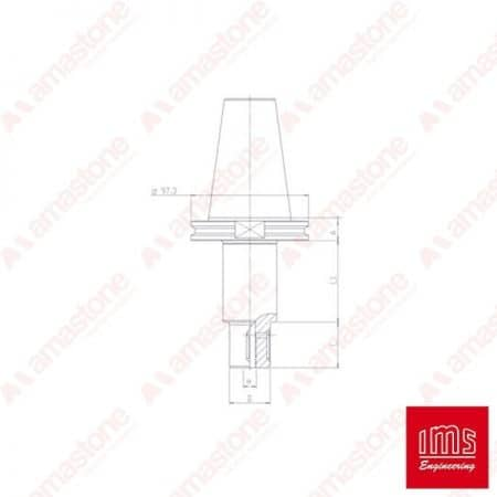 Tool Holder Cone for Grinding Wheel ISO 50