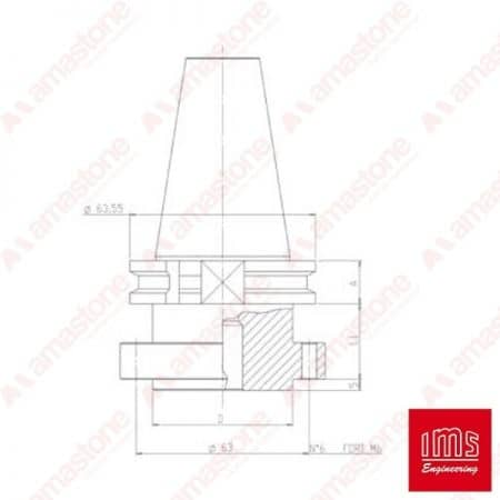 Tool Holder Cone for Stubbing Wheel ISO 40 - DIN 69871/A
