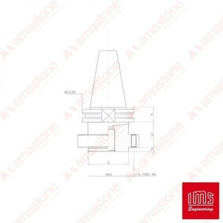 Tool Holder Cone for Stubbing Wheel ISO 40