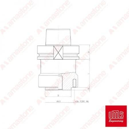 Tool Holder Cone for Stubbing Wheels HSK 80 B - Forel