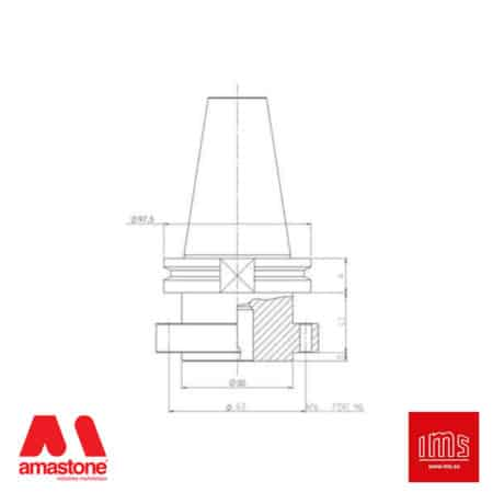 Tool Holder Cone for Stubbing Wheels ISO 50 - Bidese 2T and other - IMS