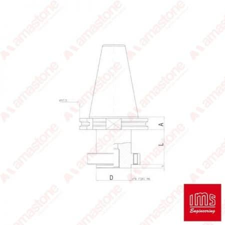 Tool Holder Cone for Stubbing Wheels ISO 50