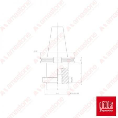 Tool Holder Cone for Stubbing Wheels ISO 50 HSD - Equal Cuts