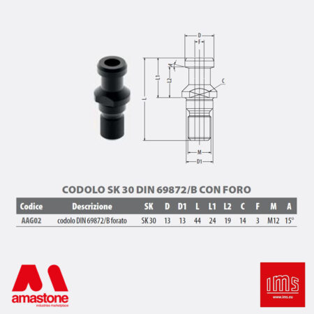 Aag02 - Pull Stud For Tool Holder Cone Iso 30