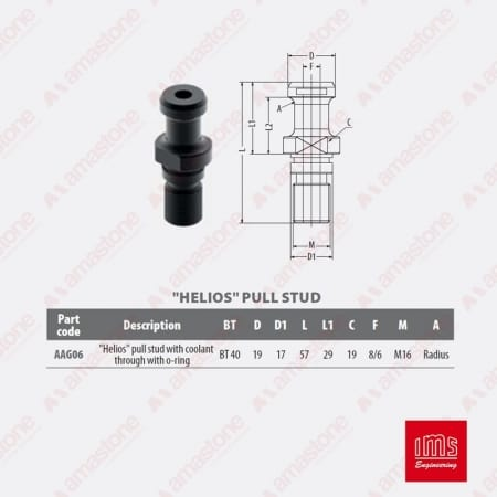 AAG06 - Pull stud for tool holder cone BT40 - IMS
