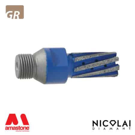 8-segment High-Speed Finger Bit - Granite - Nicolai