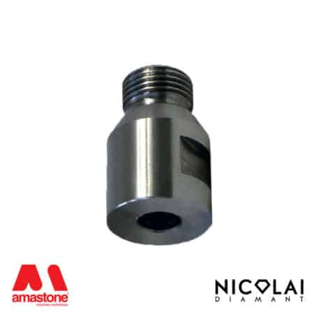Adaptor 1/2 Gas > Cylindrical shank - Nicolai