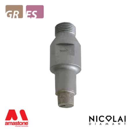 Cylindrical router bit for Granite, Engineered stone – Nicolai