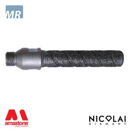 Electroplated finger bit - Marble - Nicolai