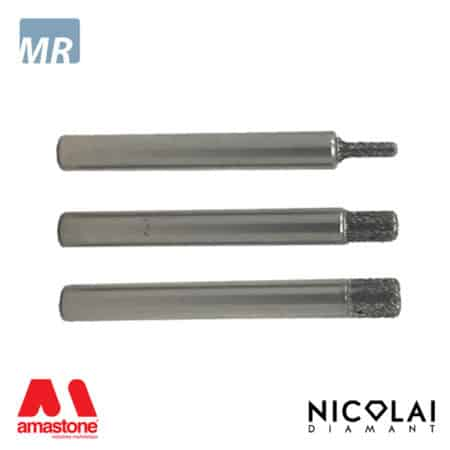 Electroplated flat head router bit for marble – Nicolai