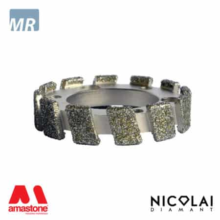 Electroplated stubbing wheel - Marble - Nicolai