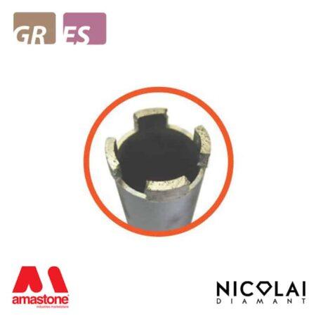 Segment core bits – Granite, Engineered stone – Nicolai